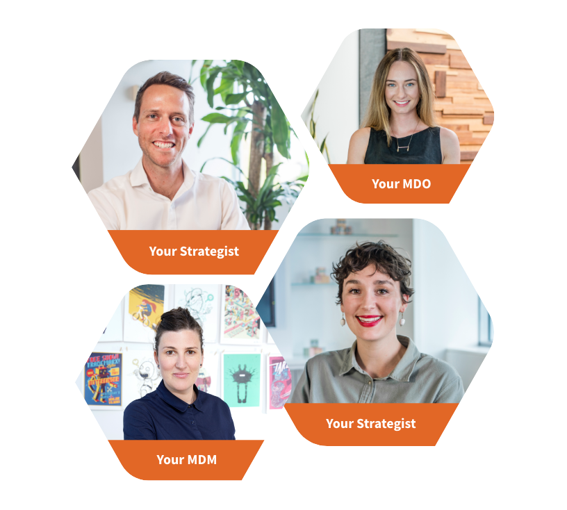 Roobix staff image which includes our strategist, MDM and MDO.